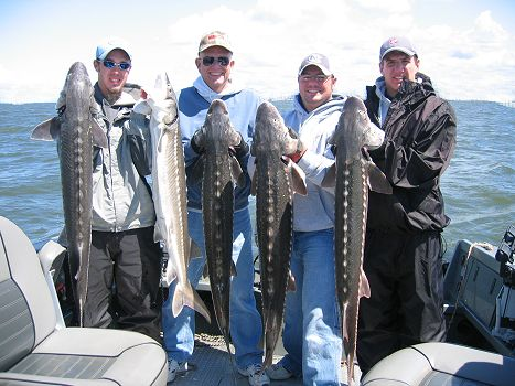 Keeper Sturgeon Fishing